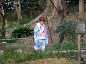 Fillette en kimono