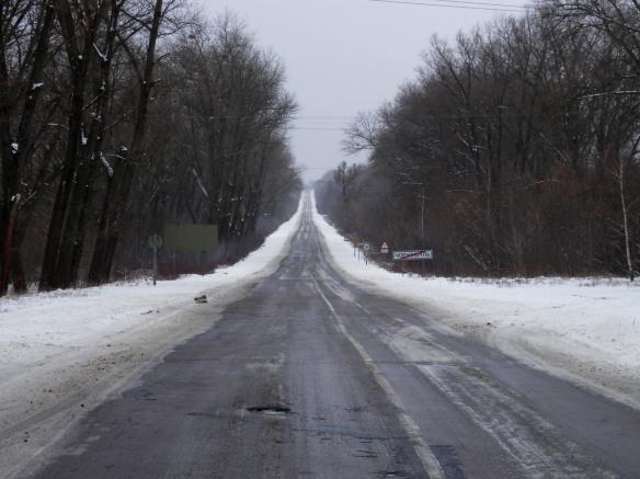 La route menant à Tchernobyl.